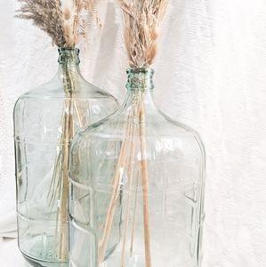 1 Large Boho Cellar Bottle Glass Vase Wedding Jug